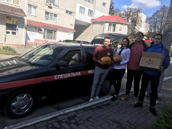 перше жовня - День людей похилого віку 01.10 подарували гарбуз для пацієнтів міська клінічна лікарня №3